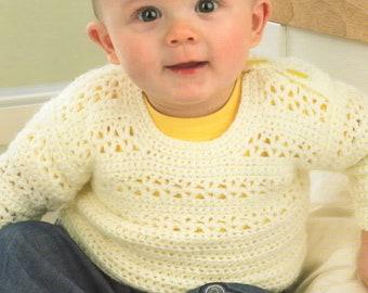King Cole 4 Ply Crochet Pattern 3121:Sweater /& Cardigan