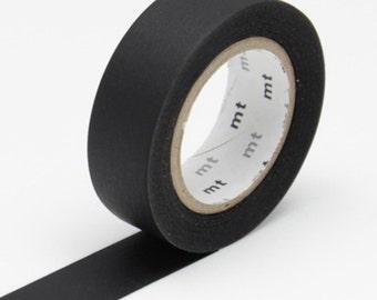 Black Washi Tape • MT Masking Tape Washi Tape • Washi Tape UK • Japanese stationery • Matte Black