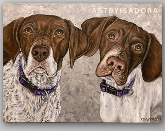 Second / Third Subject Add-On must purchase single pet portrait from my shop also