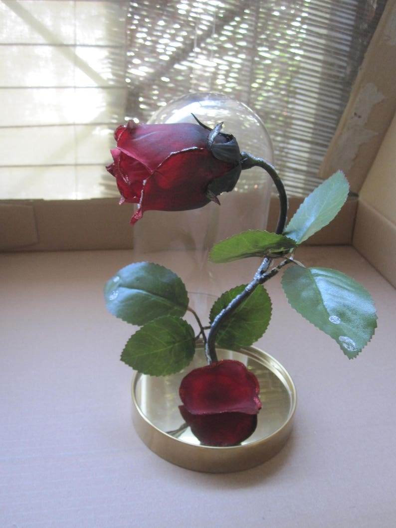 Diy Beauty And The Beast Enchanted Rose Prop Disney Princess Etsy