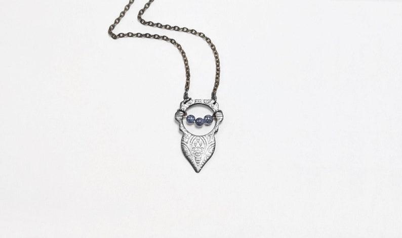 Simple Gemstone Bead Necklace handmade wedding jewelry image 0