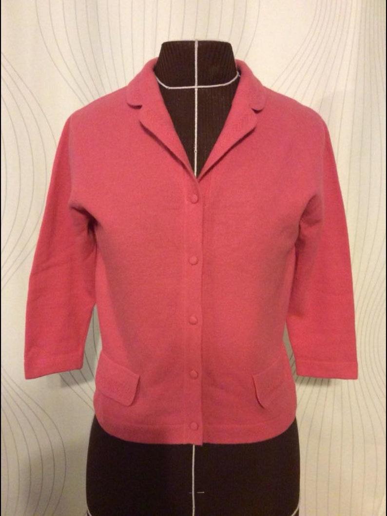 de22adcd02 Vintage 50s Pink Luisa Spagnoli Angolmere Cardigan Sweater | Etsy