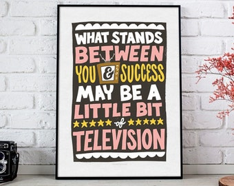 You & Success. 8.5 x 11 Hand-lettered/Illustrated Print - Digital File