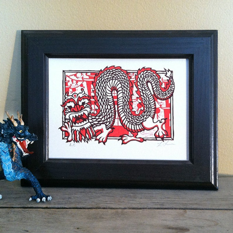 Chinese Dragon Art Print Dragon Illustration Dragon Art  image 0