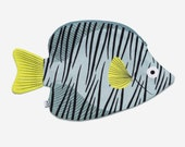 Green BUTTERFLY FISH - fish case