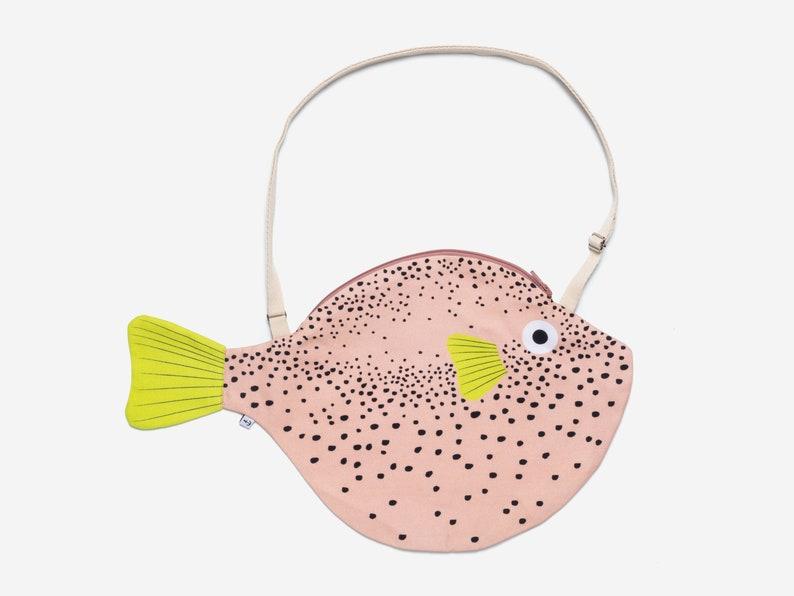 Big Pink PUFFERFISH  fish bag image 0