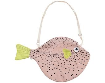 Big Pink PUFFERFISH (Big pink Balloon)-Fish bag