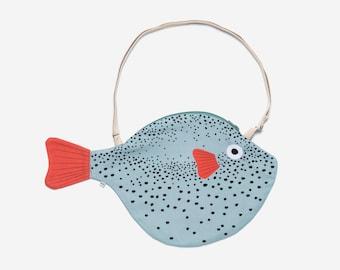 Big Aqua PUFFERFISH - fish bag