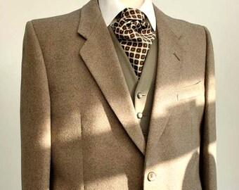 Men's Vintage Mid Weight Brown Tweed Hacking Jacket Blazer 44S for St Michael