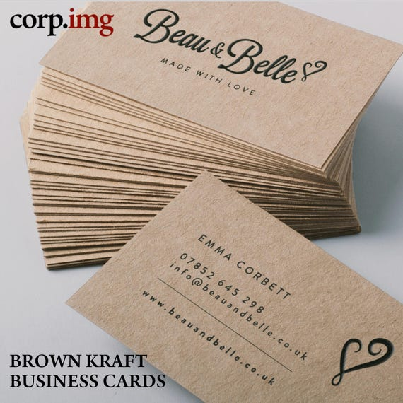 brown kraft business cards made to order recycled eco friendly 18 point business cards professionally printed free shipping - Kraft Business Cards