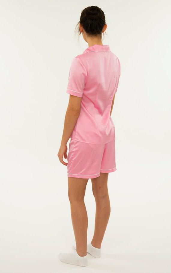27a516021d Satin Shorts Pajama Set Women s Two Piece Sleepwear