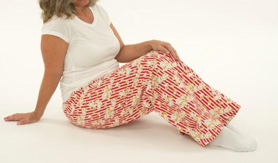 a2eea0f1d1 Women s Pajama Pants Popcorn Pattern Print Cotton