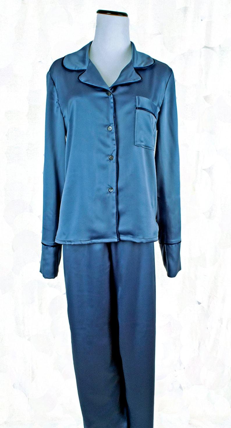 Ropa de dormir de señoras pijamas del satén conjunto de dos  5037d721caa8