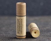 Unscented Vegan Lip Balm - Fragrance Free Unisex Lip Balm - Plastic Free, Compostable, Recyclable, Zero Waste Vegan Lip Balm
