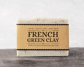 French Green Clay Soap. Unscented Vegan Soap.