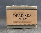 Dead Sea Clay Soap | Unscented Vegan Soap - Fragrance Free Handmade Soap. Low Waste Recycled Packaging.