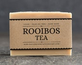 Rooibos Tea Soap | Unscented Vegan Soap - Fragrance Free Handmade Soap. Low Waste Recycled Packaging.