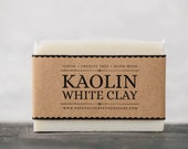 Kaolin White Clay Soap - Unscented Vegan Soap