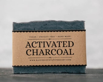Activated Charcoal Soap | Unscented Vegan Soap