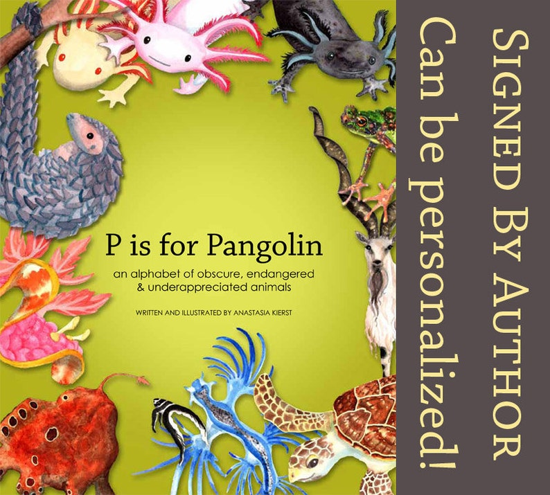 Signed Children's Book: P is for Pangolin an alphabet of image 0