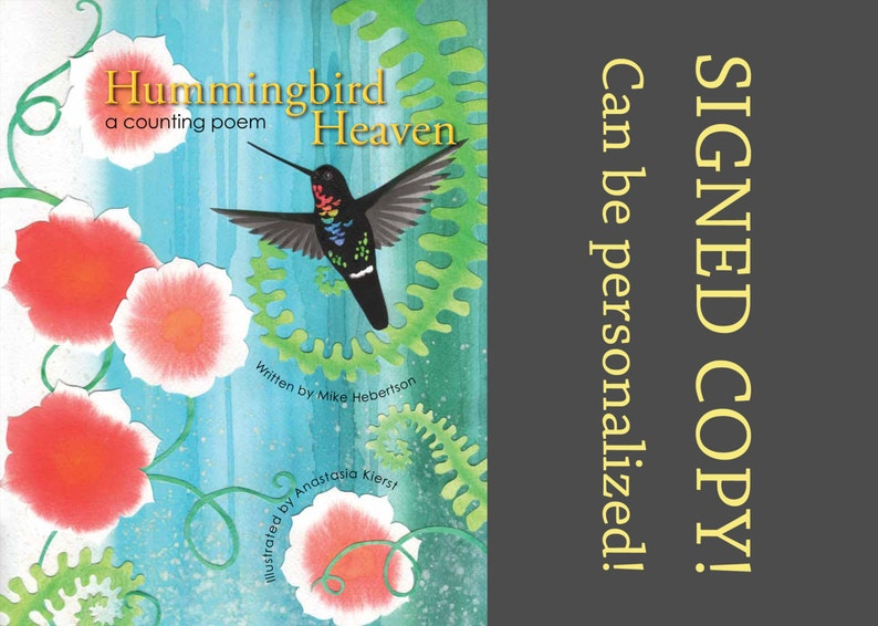 Signed Children's Book  Hummingbird Heaven: a counting image 0