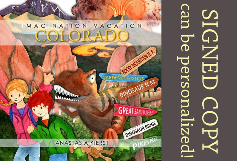 Imagination Vacation Colorado  Signed Children's book image 0