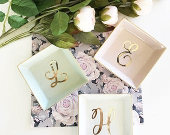 b41c99857b26 Personalized Ring Dish Personalized Bridesmaid Gifts Bridesmaid Jewelry Box  Personalized Jewelry Dish Monogram Ring Dish (EB3180SM)