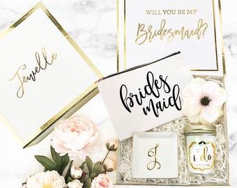 Bridesmaid Box Personalized Bridesmaid Gift Box Wedding Keepsake Box Custom Bridesmaid Gift Box (EB3171BPW) PERSONALIZED EMPTY BOX