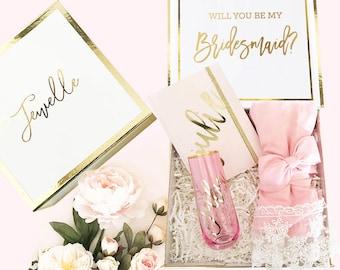 Bridesmaid Box Gifts Bride Gift Box Bridal Party Box DIY Personalized Bridesmaid Gift Box Set (EB3171BPW) Bridesmaid Proposal Box EMPTY