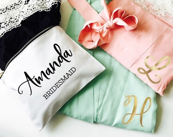 Bridesmaid Robes set of 6 , set of 10, set of 8, set of 7 or YOU CHOOSE QTY Unique Bridesmaid Gift Robes Maid of Honor Gift (EB3184M)