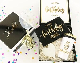 Birthday Gift Box Birthday Gift Basket Ideas Personalized Birthday Gift For Her Gift for Best Friend Sister Friends (EB3193BIR) EMPTY BOX