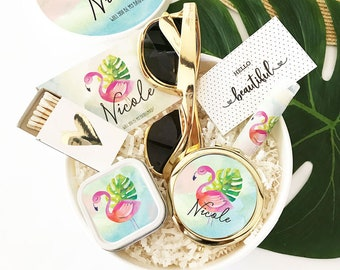 Flamingo Gifts for Women Flamingo Bridesmaid Gift Box Flamingo Box Flamingo Bachelorette Party Gift (EB3250PTPB) GIFT BOX SET