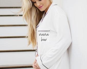 123b24eec3d7a Mom Sleep Shirt Mama Shirt Pregnancy Shirt Nursing Shirt Hospital Shirt  Maternity Shirt Baby Shower Gift for New Mom Pajamas (EB3314MOM)