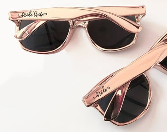 1590499f7f Bride Tribe Sunglasses Metallic Rose Gold Sunglasses Bachelorette  Sunglasses Bachelorette Party Sunglasses Bridesmaid Sunglasses (EB3181TRB)