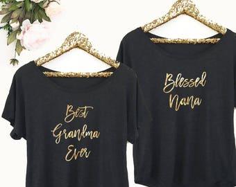 Grandma Shirt Gifts for Grandma Gift Nana Gift Nana Shirt New Grandma Gift Mimi Gift Mimi Shirt (EB3202CT)
