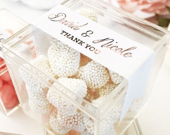 019d53b14e613 Rose Gold Favor Boxes Clear Boxes for Wedding Favor Boxes Personalized  Acrylic Favor Box Wedding Favors for Guests 12