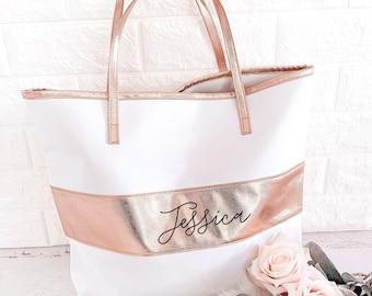 2bd19121f3 Rose Gold Tote Bag Rose Gold Bridesmaid Gift Bags Rose Gold Bridesmaid Tote  Bags Personalized Bridesmaid Tote Bag (EB3175P)