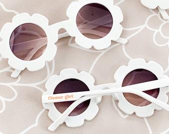 Flower Girl Sunglasses Flower Shaped SunGlasses For Girls Flower Girl Gift Idea Toddler Petal Patrol Flower Girl Proposal Gift (EB3466GFL)