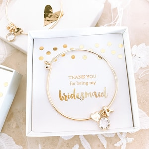 4x Wedding Witness giftBridesmaid Bracelet