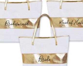 Bridesmaid Bags Bridesmaid Tote Bag Bridal Party Tote Bags for Bridesmaid Gift Bags Maid of Honor Tote Bags for Bridesmaid Totes (EB3175BPW)