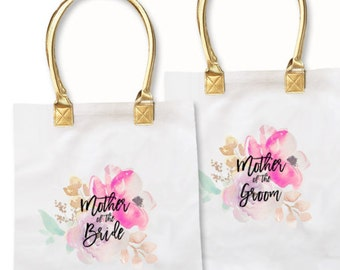 Mother of the Bride Tote Bags Mother of the Groom Tote Bags Mother of the Bride Gift Mother of the Groom Gift (EB3162BPW)