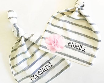 Personalized Baby Hat - Personalized Baby Gifts Custom Baby Hats Personalized Baby Hat Coming Home Outfit Baby Shower Gift (EB3221) HAT ONLY
