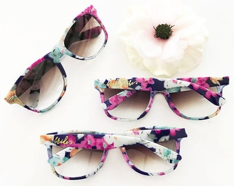 Bachelorette Party Sunglasses Bride Tribe Sunglasses Bachelorette Sunglasses Bachelorette Party Favors Floral Sunglasses (EB3203TRB)