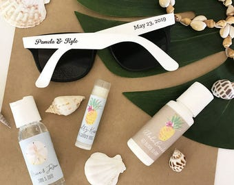 8e9de040ae Beach Wedding Favors Sunglasses Custom Sunglasses for Beach Theme Wedding  Ideas Beach Wedding Favors Beach (EB3107) - SET of 24