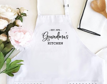 Grandma Gift Personalized Apron Grandmother Birthday Nana Mimi EB3242CTW