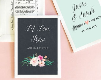 Wedding Favors Seeds - Seed Wedding Favors - Personalized Seed Packets - Let Love Grow Seed Packets - (EB2114GDN) - set of 12|