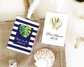 Destination Wedding Favors - Luggage Tag Wedding Favors - Tropical Beach Wedding Favors Beach Theme Wedding (EB2151TPB) - 12| pcs