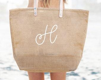 827a428af Monogram Beach Bag Burlap Bags Large Beach Tote Bags Monogram Bridesmaid Beach  Bag Gift Monogrammed Tote Bag (EB3330M)