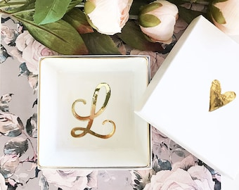 Bridesmaid Jewelry Dish Personalized Jewelry Dish Ring Dish Personalized Ring Dish Gold Jewelry Plate Mother of the Bride Gift  (EB3180SM)