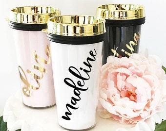 Travel Mug Personalized Travel Tumblers Travel Gifts for Women Custom Travel Mugs for Women Travel Coffee Mug Personalized (EB3226P)